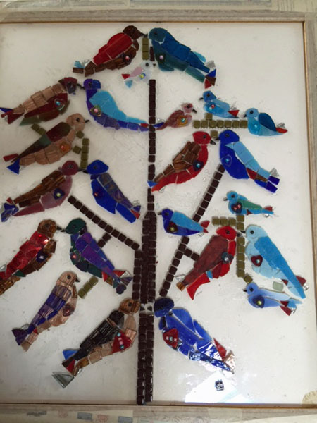 Sparrow Family Tree Mosaic (in progress)