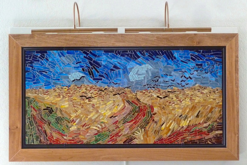 Wheat Field With Crows mosaic after Van Gogh by Jim Price.