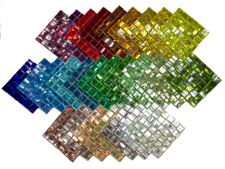 Colored Glass Mirror Tile Architectural Quality
