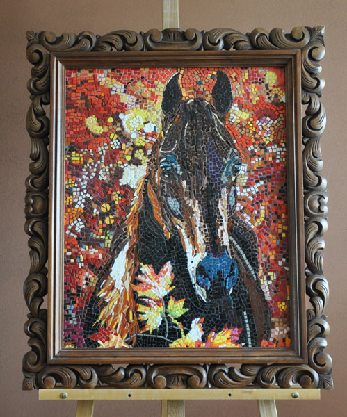 Red Horse Mosaic