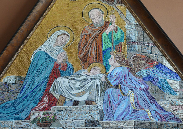Mosaic after the facade of Siena Cathedral