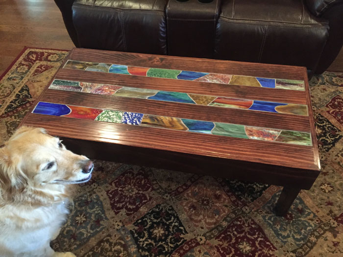 Stained Glass Mosaic Coffee Table