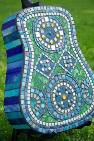 mosaic guitar back side