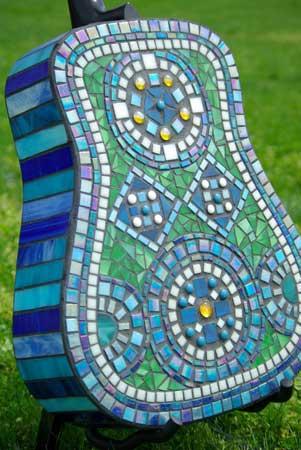 mosaic guitar back side