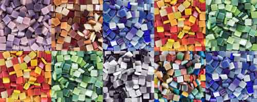 recycled glass mosaic tile 12mm