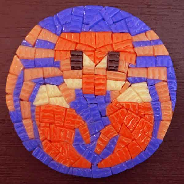 mosaic coaster crab