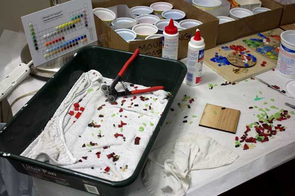 mosaic cutting pan