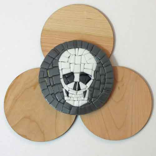 mosaic coaster skull bases