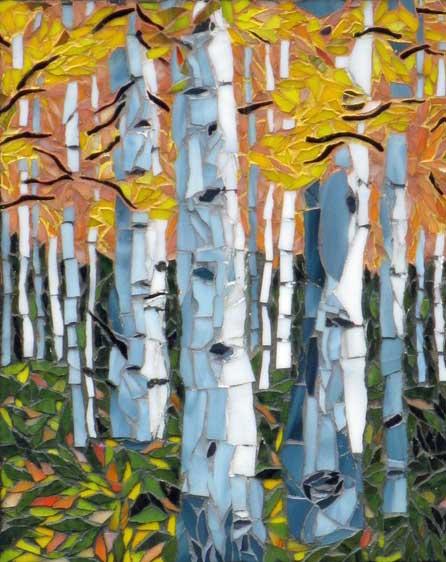 Autumn Trees mosaic art