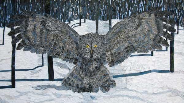 Grey Owl mosaic