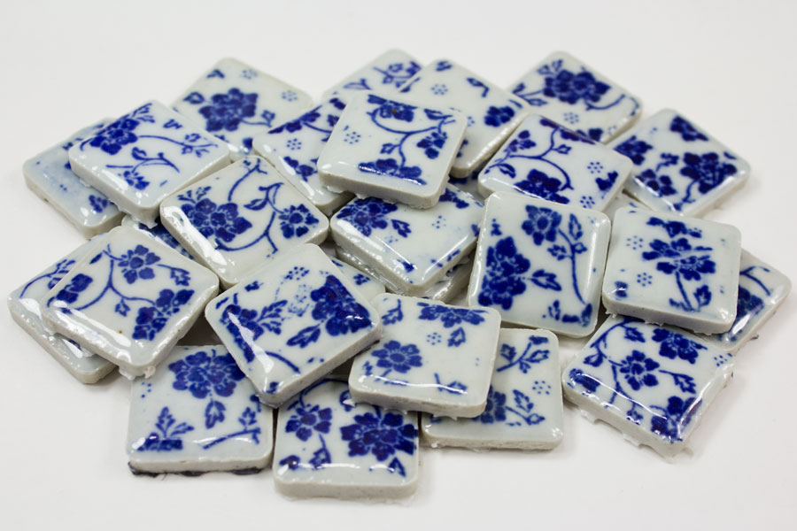 Porcelain Tiles Blue and White China Print