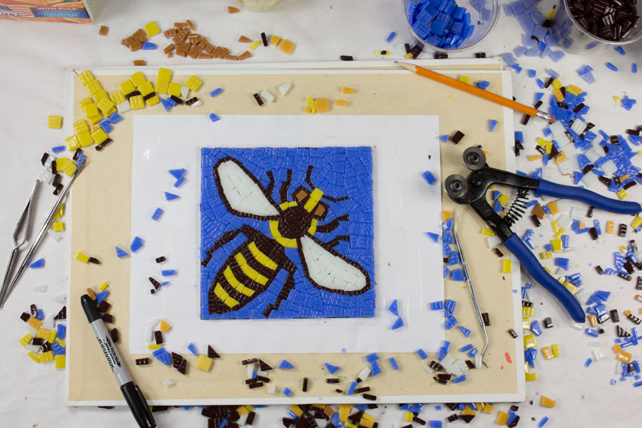 Bee Mosaic Tiling Complete