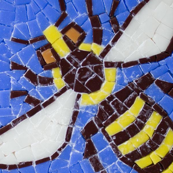 Glue residue bee mosaic
