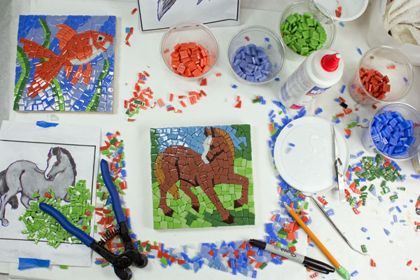 Mosaic Art In Progress