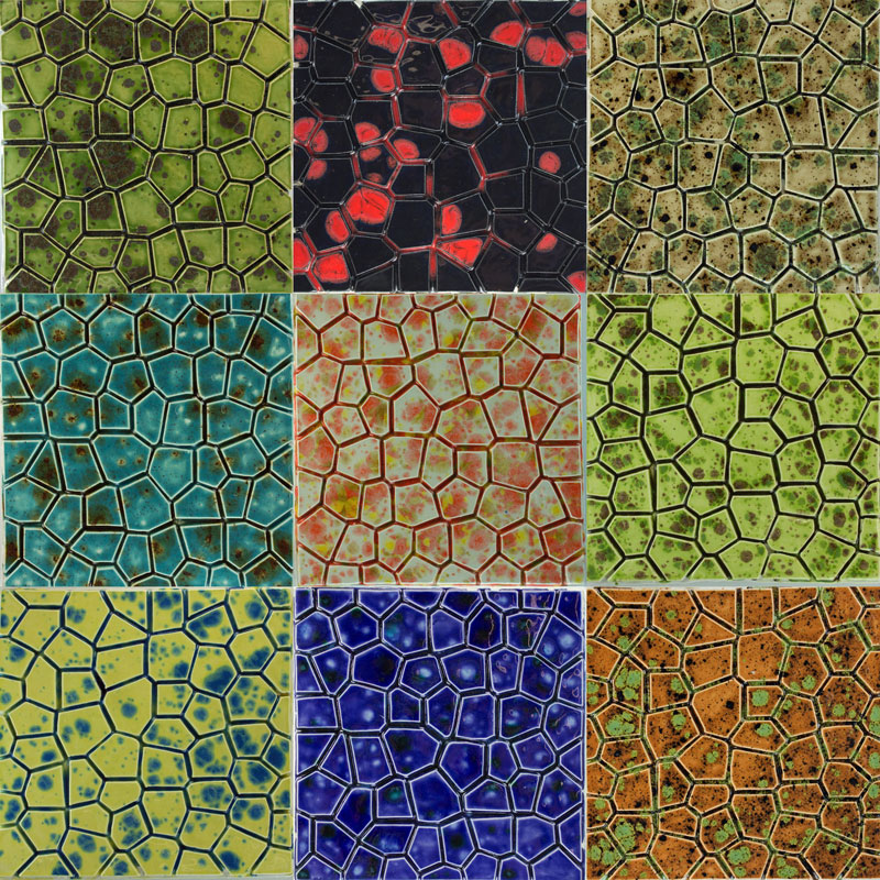 Mottled Glazed Ceramic Tiles selection A