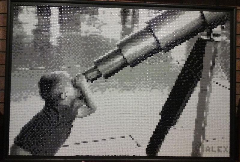 Black and White Telescope Mosaic