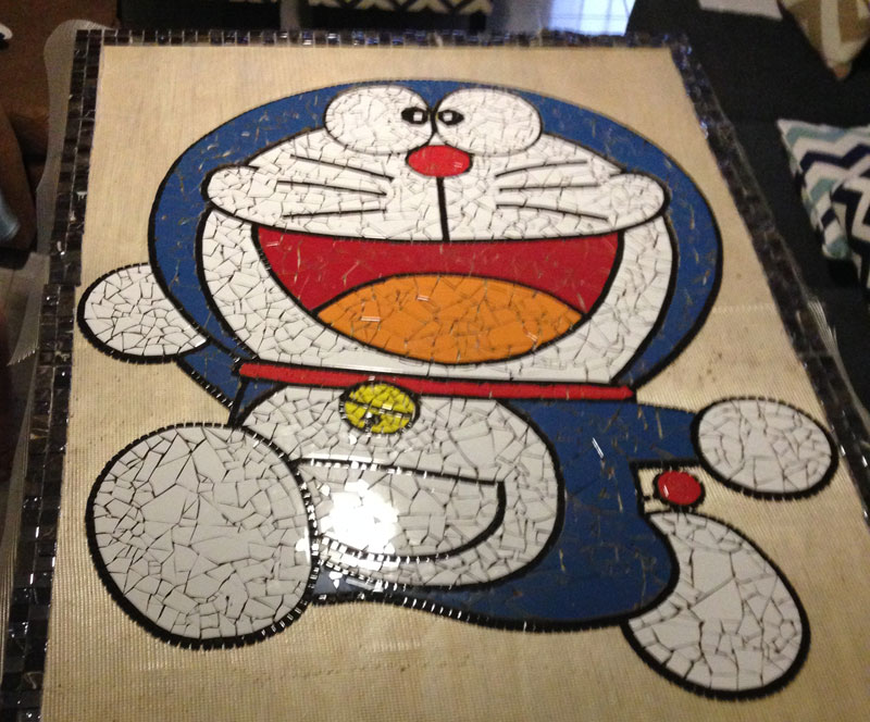 Mosaic Doraemon in progress