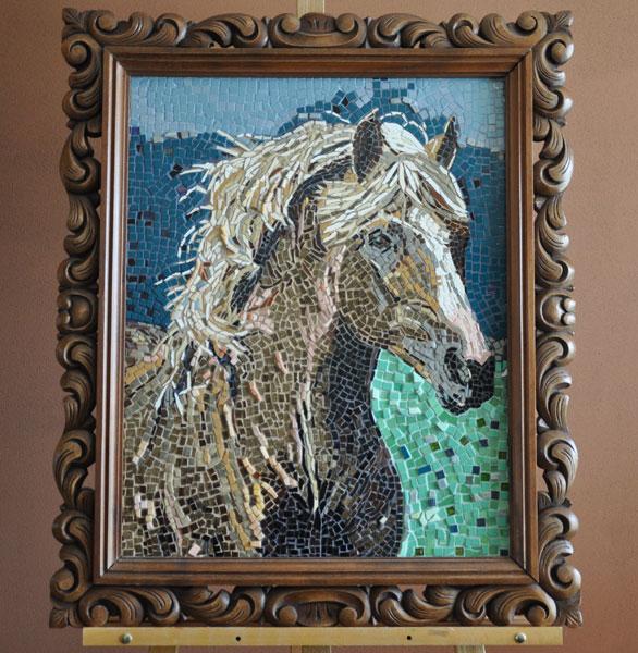 Caramel Colored Horse Mosaic