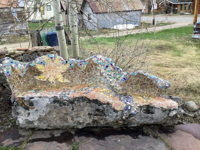 Mosaic Bench after Antoni Gaudi