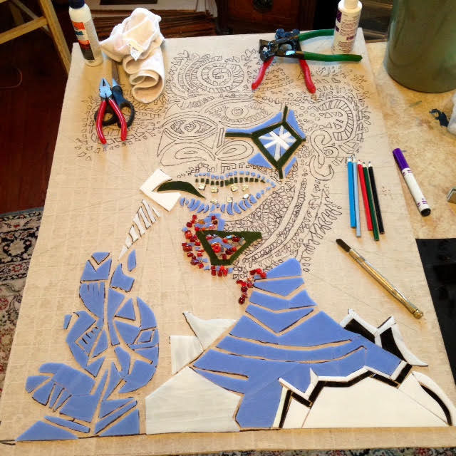 Picasso Mosaic In Progress
