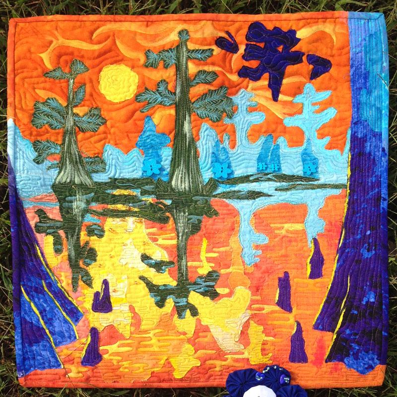 Cypress Bayou quilt by Jackie Iglehart