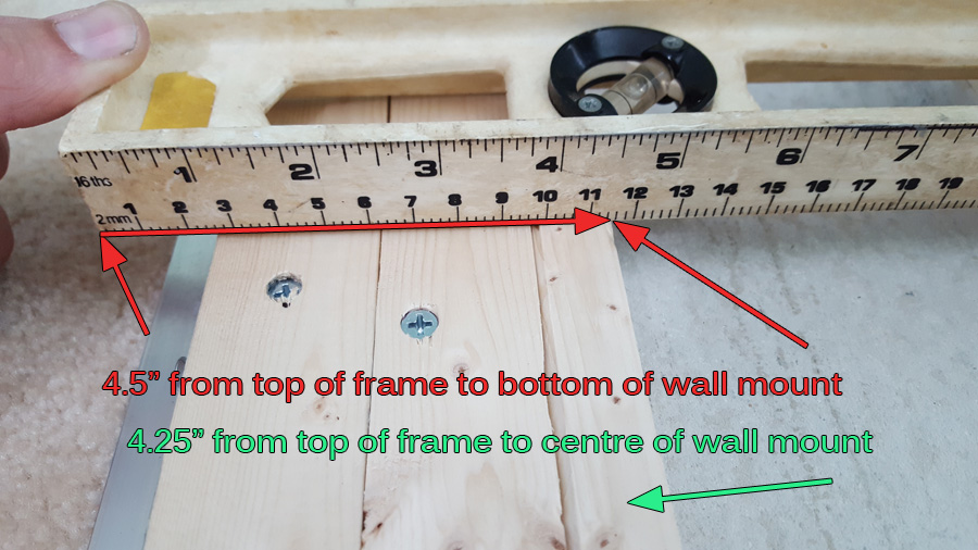 measure to figure out offset for wall side piece of french cleat
