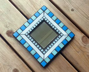Photographing Mosaic Art -- Blue Mirror