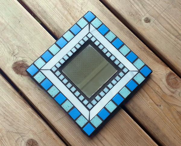 Photographing Mosaic Art -- Blue Mirror