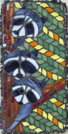 Raccoons Mosaic Art By Valri Castleman