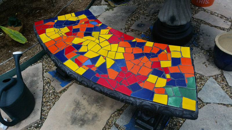 Mosaic Bench 1 of 3