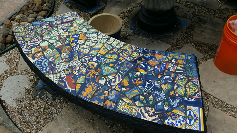 Mosaic Bench 2 of 3