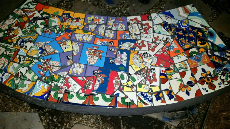 Mosaic Bench 3 of 3
