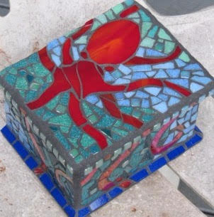Octopus Mosaic Box by Valri Castleman