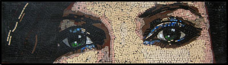 Maribel's Eyes Mosaic Art by Frederic Lecut