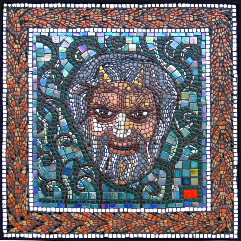 Pan's Head Mosaic Art