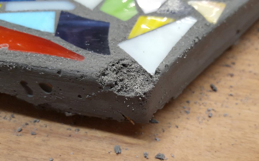 broken corners can be mended with thinset