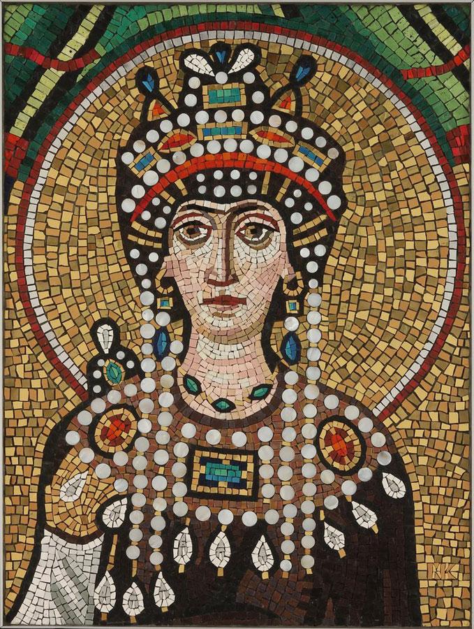 Empress Teodora Mosaic by Michael Kruzich