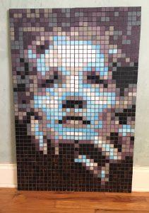 Marlene Dietrich Mosaic
