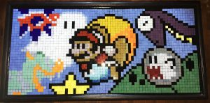 Mario Gamer Mosaic Art