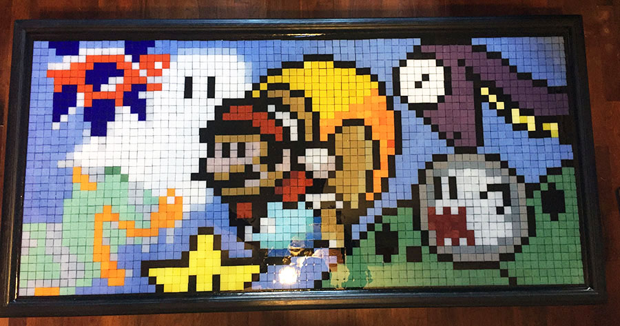 Mario Gamer Mosaic Art second view