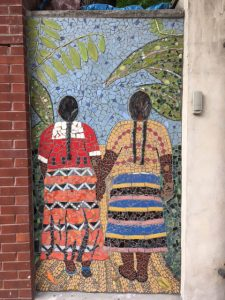Mosaic Guatemalan Women Grouted
