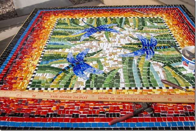 Mosaic Table by Jackye Mills