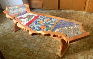California Mosaic Bench