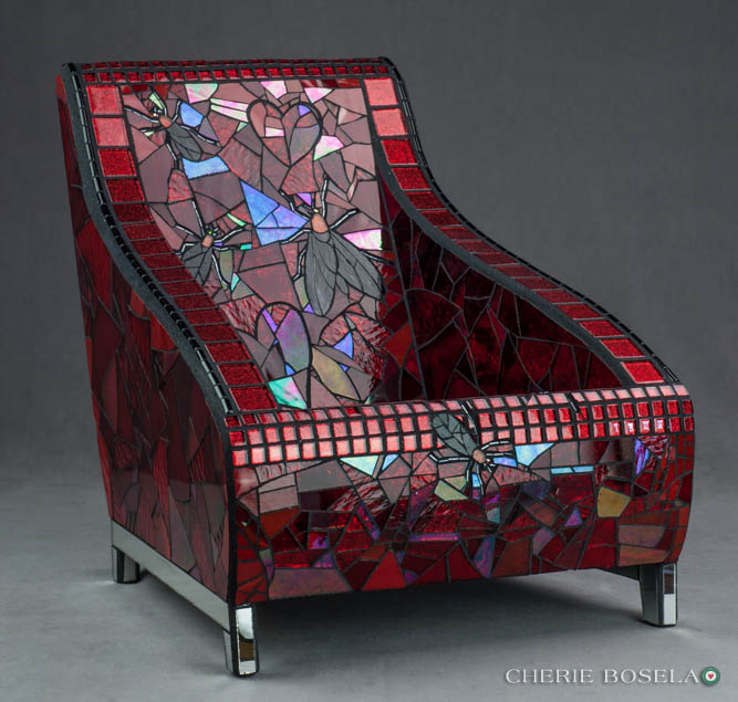 Love Is In The Air Mosaic Chair