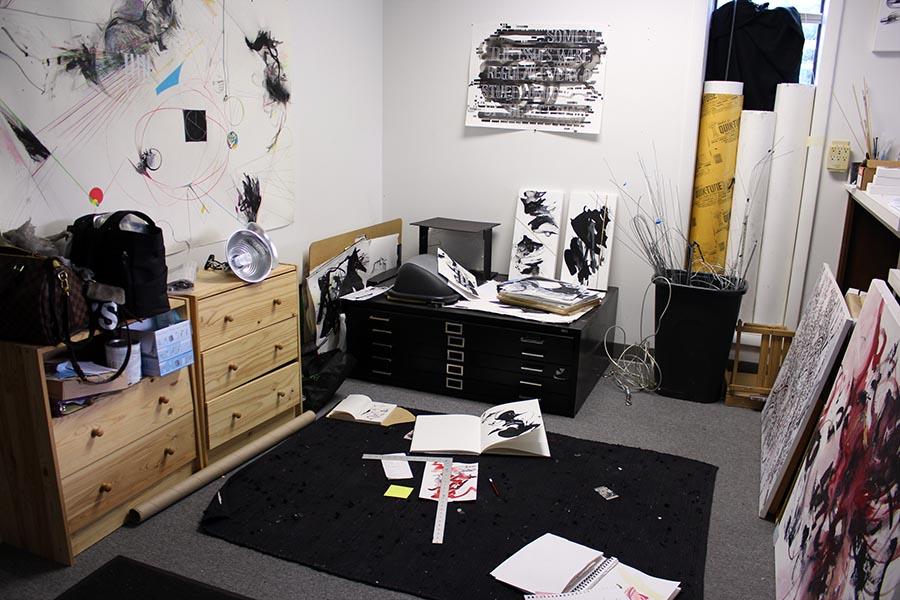 Angela Bortone's art studio