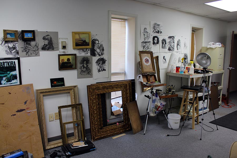 Adam Sprague's art studio