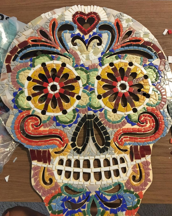 Day-of-the-Dead Mosaic ungrouted