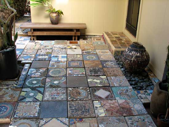 Mosaic Stepping Stone Patio
