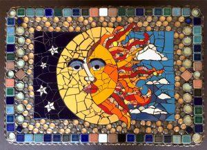 Sun Moon Mosaic by artist Lynn Sposito