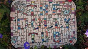 Mosaic Sign by Ann Mitchell